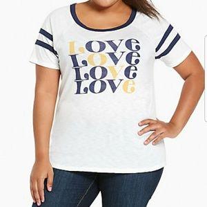 Torrid Love Football Tshirt Size 4